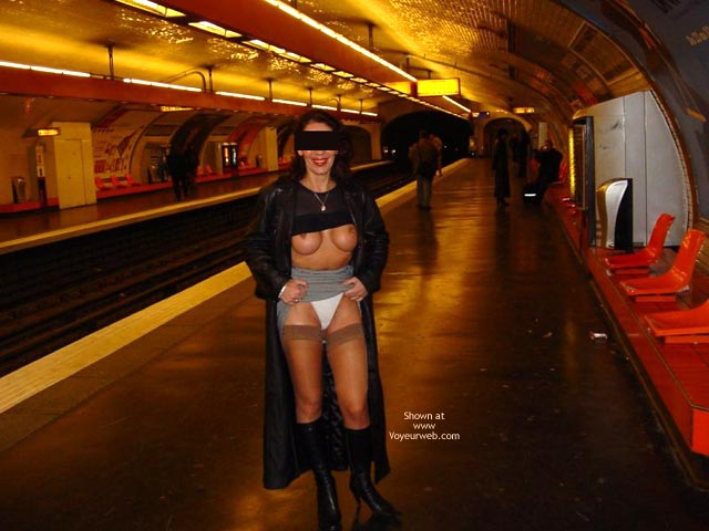 White Panties - Flashing, Sexy Panties , White Panties, Subway Flashing, Tits And Tracks, Train Flashing, Stockings