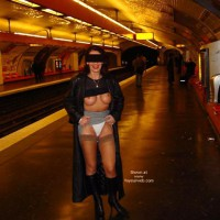 White Panties - Flashing, Sexy Panties , White Panties, Subway Flashing, Tits And Tracks, Train Flashing, Stockings
