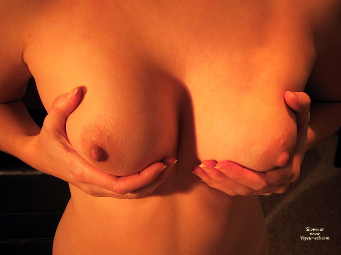 Holding Round And Firm Breasts - Erect Nipples, Hard Nipple, Perfect Tits , Cupping Boobs, Standing Holding Breasts, Cleavage Tunnel, Medium Round Tits, Holding Tits, Holding Breasts
