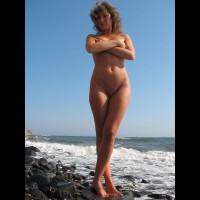 Standing In Nature - Blonde Hair, Brown Hair, Navel Piercing, Shaved Pussy, Naked Girl, Nude Amateur , Curly Blonde Hair, Tanned Athletic Body, Full Frontal, Nude, Covered Breasts, In The Surf, Medium Wavy Brown Hair, Arms Folded Across Breasts, Bellybutton Piercing