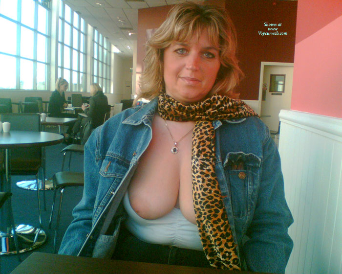 Nipples Out In Burger King! , FEELING A BIT HORNY IN BURGERKING LINCOLN UK SO DECIDED TO LET THEM POP OUT FOR A BREATHER!!