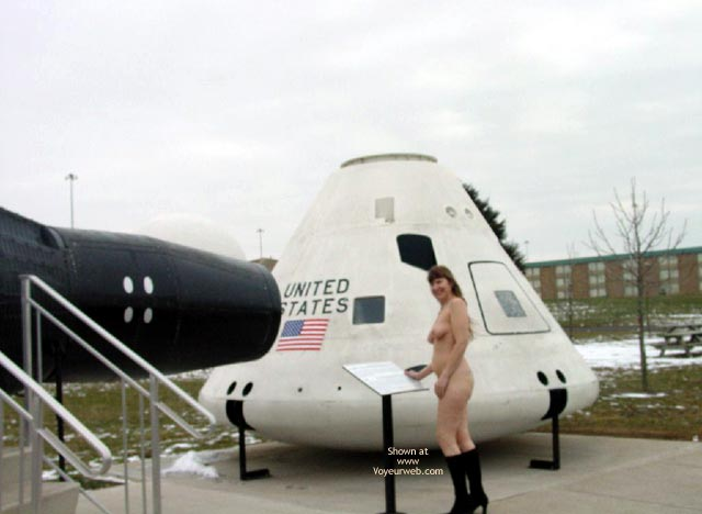 Nude At A Museum , Nude At A Museum, Exhibitionist Girl, Back To The Moon, Black Boots