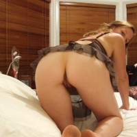 Bare Ass And Crotch Upshot - Brown Hair, Camel Toe, Doggy Style, Long Hair, Pussy From Behind , Indoor Ass And Pussy, Nice Heart Shaped Ass, Kneeling On Bed, Gorgeous Butt, Beautyful Cameltoe, Bottomless, Wfi On Bed, Baby Doll Top
