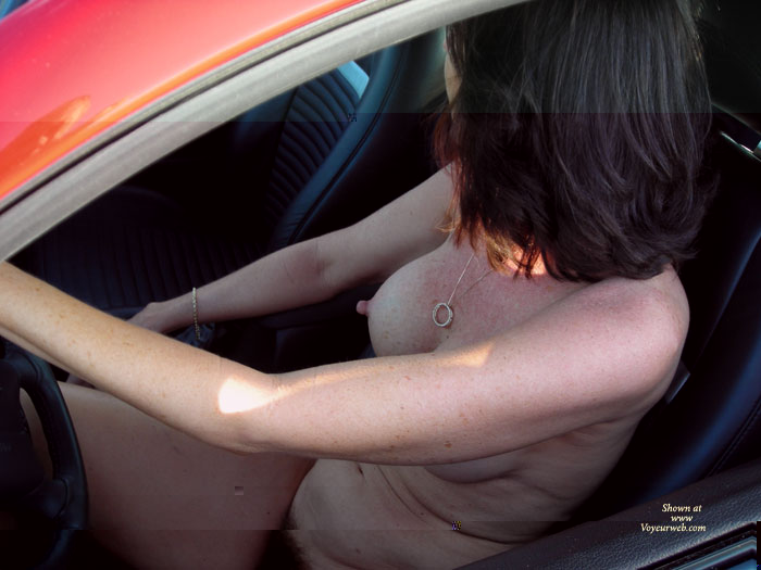 Naked In Car - Brunette Hair, Erect Nipples, Naked Girl, Nude Amateur , Full Bush, Natural Bush, Long Erect Nipples, Nude In Car, Driving Naked, Nude Girl Driving A Car, Brunette Hair, Freckled Body