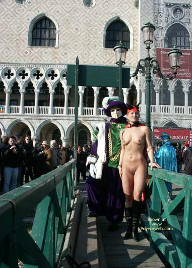 Naked Devil Outdoors - Nude Outdoors , Naked Devil Outdoors, Naked Devil Outdoor Street Fair, Naked Costume Devil Outdoors
