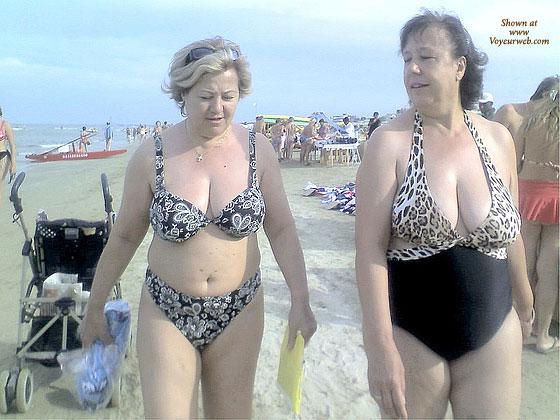bikini candid Mature voyeur beach