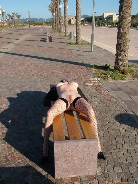 Nude Lying On Park Bench - Big Tits, Erect Nipples, Nude In Public, Stockings, Naked Girl, Nude Amateur , Frontal Nude, Fishnet Stockings, Pussy In Public, Nude In Public On A Bench, Outdoor Laying Straddling Bench, Black Fishnet Stockings, Street Spreading
