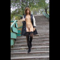 Flashing Tits And Pussy - Brown Hair, Exhibitionist, Flashing, Shaved Pussy, Small Breasts, Small Tits, Stockings , Very Small Breasts, Thin Physique, Skinny Girl, Open Coat For Flashing, Tiny Tits, Flashing In A Park, Freckles, Standing Full Frontal, Shoulder Length Brown Hair