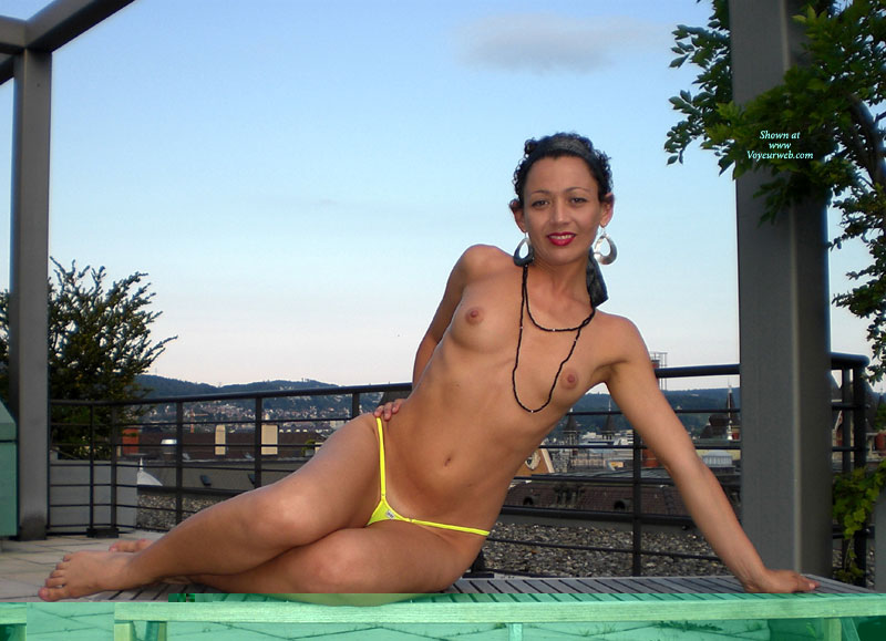 Mikrokini - Erect Nipples, Firm Tits, Milf, Small Tits, Topless, Naked Girl, Nude Amateur , Nude On Porch, Yellow Weaked Weasel, Small Firm Tits, Well Tanned Body, Curvy Feminine Hips And Thighs, One Arm Side Lean, Petite Milf, Athletic Body, Microkini, Topless Bikini