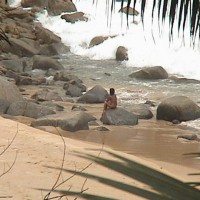 Nude Asian Woman On Phuket Beach