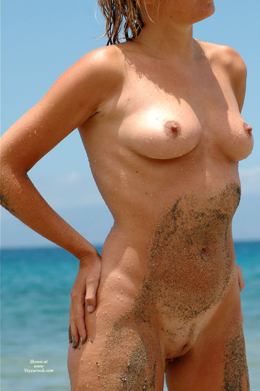 Sand On Skin - Blonde Hair, Erect Nipples, Landing Strip, Natural Tits, Perfect Tits, Naked Girl, Nude Amateur , Little Areolas, Wet Nipples, Hands On Hips, Sandy Body, Full Frontal Nude Standing On Beach, Sandy And Wet, Medium Sized