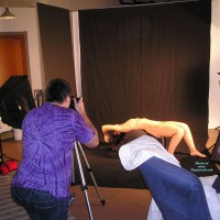 Nude Recline Being Photographed In Studio - Brunette Hair, Small Breasts, Naked Girl, Nude Amateur , Naked Back Bend, Arched Back Photograph, Nude Brunette Photo Shoot, Lying In Photo Studio, Private Viewing, Arched Back, Naked Model Being Photographed, Posing In A Studio, Being Photographed, Lying On Back