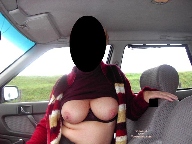 Pic #1 Boobs in The Car