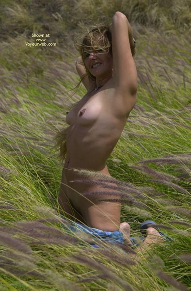 Nude Outdoors - Erect Nipples, Nude Outdoors, Trimmed Pussy , Nude Outdoors, Erect Nipples, Trimmed Pussy, Wind In The Grass, Hair Dishevelled By Storm