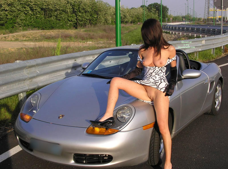 with girls Porsche naked