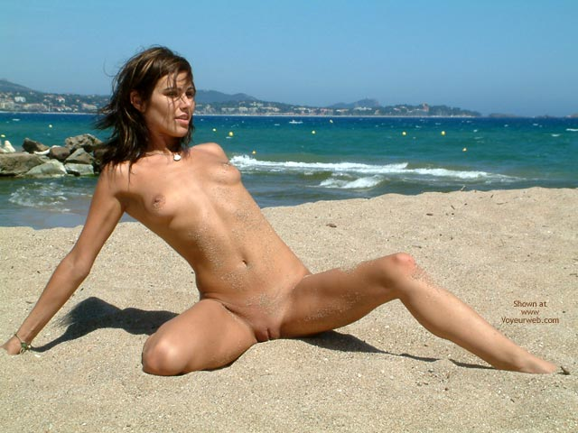 Tits And Pussy , Tits And Pussy, Sandy, Boobs On Beach