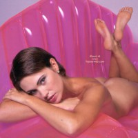 Naked On Pink Inflatable Couch , Naked On Pink Inflatable Couch, Naked On Blow Up Chair