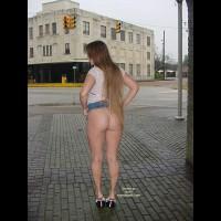 Flashing Ass In Public - Long Hair , Flashing Ass In Public, Street Corner, Bare Ass Outdoors, Long Hair