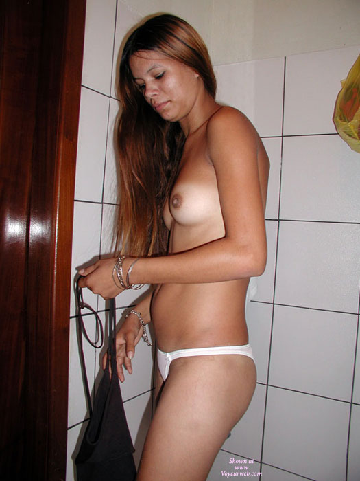 Nude At The Bathroom , Marina Is A Good Friend And I Share My Boyfriend With Her Sometimes.