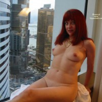 Naked At The Window - Milf, Perky Tits, Naked Girl, Nude Amateur , Sitting In A Window, Nude In High Rise Window, Sexy Milf Body, City Scapes, Curvy Feminine Hips, Nude Woman Skyline View, Sitting On A Ledge, Redhead