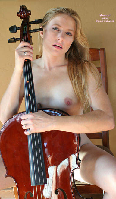Naked Blonde With Cello - Blonde Hair, Long Hair, Natural Tits, Pale Skin, Small Tits, Naked Girl, Nude Amateur , Nude Cellist, Pale Clear Skin, Big Cello And Small Titties, Musical Instrument, Girl Playing Her Insturment, Nude Girl With A Cello Blocking Everything Except One Breast