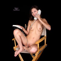 Naked On The Phone - Erect Nipples, Small Breasts, Spread Legs, Naked Girl, Nude Amateur, Sexy Legs , Smiling Nude On Phone, Soft Small Breasts, Bright Eyes, Shaved Muff, Sexy Phone, Legs Tucked Under Her, Sitting In Chair With Legs Spread, Sitting Nude, Completely Nude, Perched On Chair, Sitting On A Directors Chair