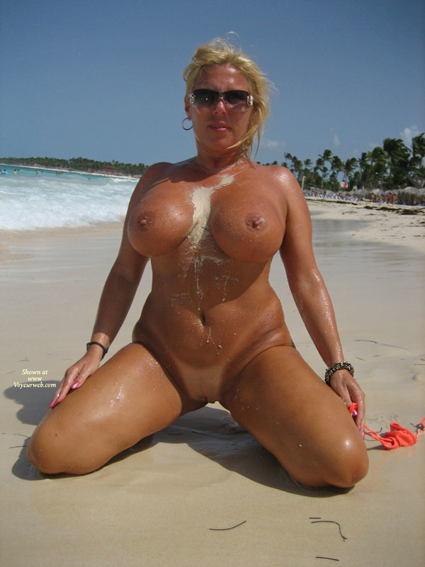 Full Frontal Kneeling - Big Tits, Blonde Hair, Large Breasts, Milf, Shaved Pussy, Bald Pussy, Naked Girl, Nude Amateur , Kneeling On Sandy Beach, Big Tits Blonde, Beach Nude, Large Full Breasts, Perfect Milf Body, Too Big, Looking Directly At Camera, Dark Tan