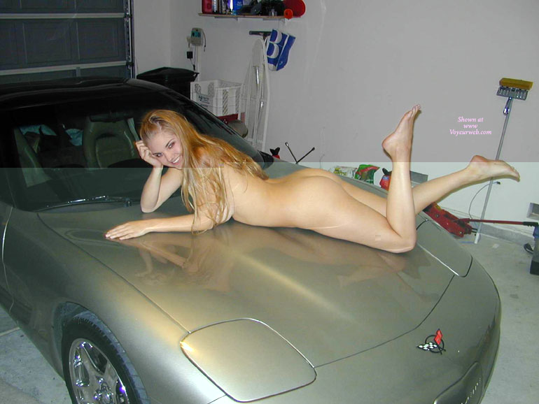 Touching Naked girls on cab hood speak