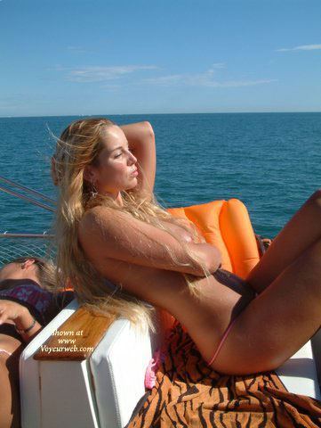 Nude blondes on boats think