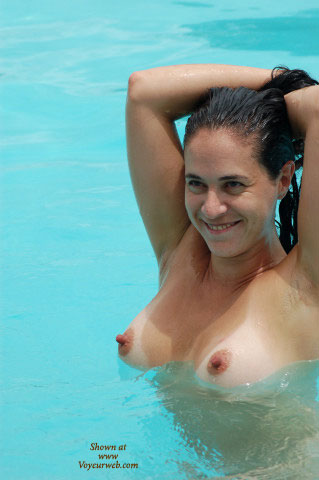 Girl In Pool - Erect Nipples, Large Nipples, Pool, Wet , Girl In Pool, Large Nipples, Floating Boobs, Erected Nipples, Swimming, Wet, Breasts, Pool