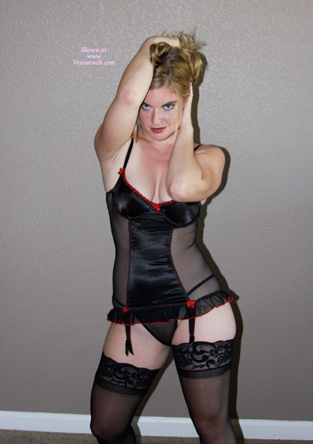 Pic #1Ella In Black and Red