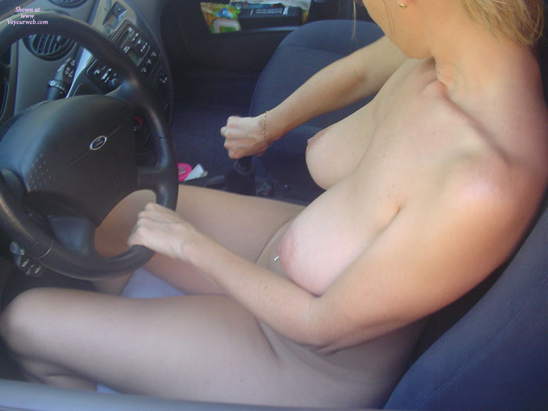 Shifting Gears - Blonde Hair, Huge Tits, Pierced Nipples, Naked Girl, Nude Amateur , Steering Wheel In Hand, Pale Areolas And Nipples, Car Nude, Pierced Belly Button, Car Drive Naked, Driving My Ford Naked, Driving Nude, Banana Titties