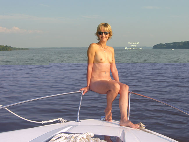 amateur naked mature on a boat