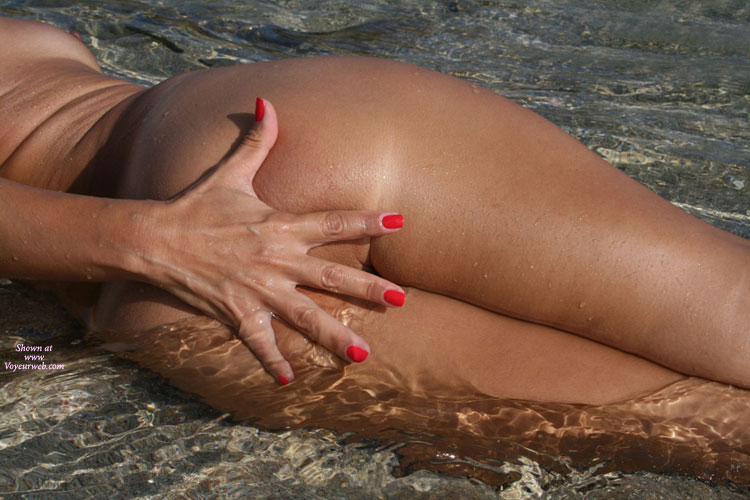 Sexy Milf Tit And Ass Shot - Milf, Round Ass , Milf In The Water, Tanned On The Beach, Red Fingernails, Red Nails, Hand Covering Ass, Hand Covering Ass In Clear Water, Round Tan Ass, Photo Art, Hand On Arse