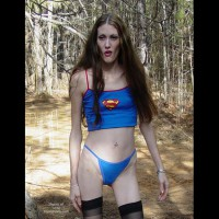 Hippy Chick In The Winter Woods 2