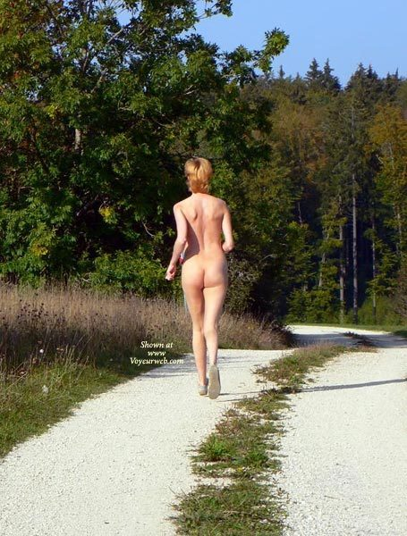 Jogging Nude - Blonde Hair, Naked Girl, Nude Amateur, Sexy Ass , Outdoor Running Naked, Jogging Naked, Loves To Run Naked Out In Nature, Outdoor Ass Shot, Sexy Back, Running In The Woods, Rear View Of Nude Woman Outside, Nude Jogging Down Gravel Path, Short Blondish Hair