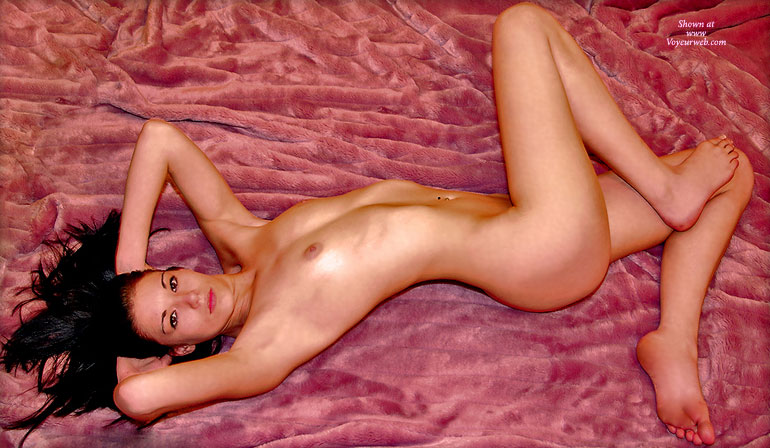 Fully Nude Girl Lying On Bed In Marilyn Monroe Pose - Black Hair, Naked Girl, Nude Amateur, Sexy Feet , Firm Small Titties, Pinup Style, Classic On Bed, The Classic Monroe Pose, Slim Body