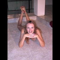 Laying It Out On The Carpet - Hanging Tits , Laying It Out On The Carpet, Nude On The Carpet, Hanging Tits, Barefeet, Feet Up, Dirty Feet