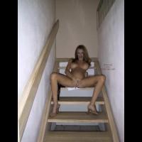 Heatherpink Masterbates On The Stairs