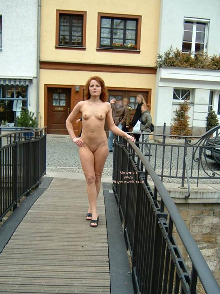 Nude Girl On Public Bridge - Shaved Pussy , Nude Girl On Public Bridge, Shaved Pussy