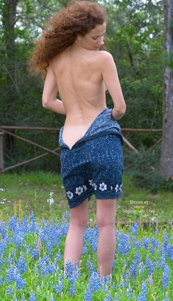Lost In The Wilderness - Redhead , Lost In The Wilderness, Redhead, Dropping The Dress, Nude In Field
