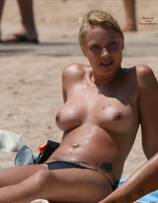 Natural Wet Beach Titties - Blonde Hair, Erect Nipples, Topless Beach, Beach Tits, Beach Voyeur, Sexy Girl , People In The Background, Blonde Hair Tied Up, Wet Body, Smiling At Off-camera Scene, Sunbathing Tits, Reclining On The Beach, Girl Next Door, At The Beach, Tattoo Girl, Medium Natural Breasts