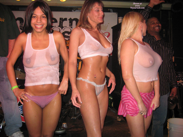 Wet T Shirt Contest - Large Breasts , Tittie Fest, Cute Nasty Smile, Happy Smiles, See Through Top, Wet Tops, All Wet, Chubby Tits, Wet Sheer Green Panties, Wet Tits, Wet Tee, Wet T-shirt Contest, Wet Titties, Nice Round Nipples, White Wet Tank Tops