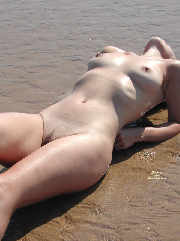 Nude Wife On A Beach - Landing Strip, Shaved Pussy, Naked Girl, Nude Amateur, Nude Wife , Arching Backwards, Bathed In Sunlight, Showing Off Ber Breasts, Belly And Throat, Arched Back, Beach Lover, Propped On Her Elbows, In The Surf, Laying In Shallow Water, Naked Sunbathing