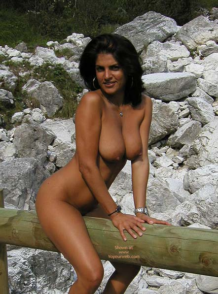 Big Tits Brunette - Nude Outdoors , Big Tits Brunette, Nude Outdoors, Naked On Fence, Tree Hugger, Riding Big Wood, Ass Back Tits Forward, Tits Outdoors, Smiling Titis