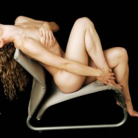 Nude Girl Sitting On Chair - Naked Girl, Nude Amateur , Sitting Nude In Modern Chair Covering Up, Nude Leaning By Tree, Her Hands Over Breast And Foot, Sitting Back With One Knee Up, Modern Art, Artistically Reclining Girl, Artistic Pose On Neomodern Chair, Long Lines In Chair, Head Back And Hair Dangling