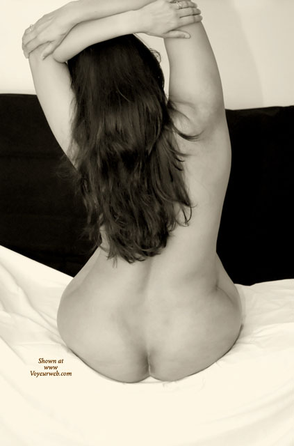 FINE ASS ON A BED - Long Hair, Naked Girl, Nude Amateur , Sitting On Bed, Back Of Nude, Black And White, Bare Ass And Back, Bare Back, Back To Camera, Pear Shape Ass, Beautiful Hair Cascading Down Her Back