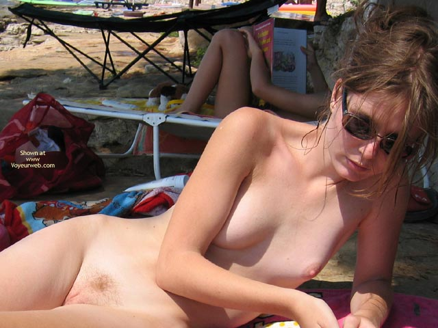 Sunning The Slopes - Shaved, Small Tits, Sunglasses, Beach Voyeur, Nude Amateur , Sunning The Slopes, Almost Shaved, Small Tits, Beach Scene, Sunglasses, Reading Nude, Tanning