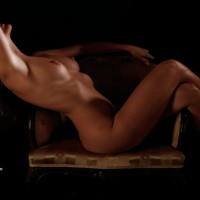 Nude Sitting Sideways On Armchair - Brown Hair, Erect Nipples, Large Breasts, Long Hair, Naked Girl, Nude Amateur , Medium Flat Areolas, Tanned Body, Shapely Body, Curvy Body, Reclining Nude Profile Shot, Shadow Picture, Naked On Chair, Long Curly Hair, Head Thrown Back, Legs Crossed, Artistic On Chair, Lying On A Couch, Back Arched