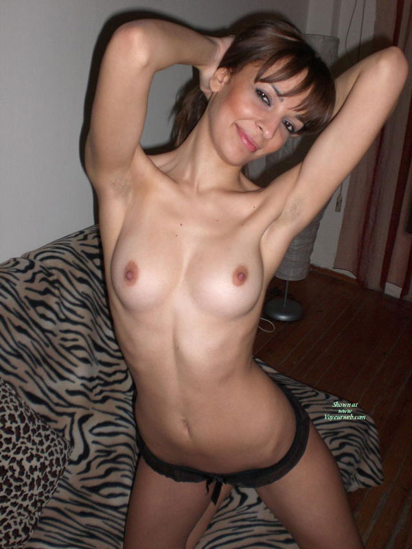 Topless Wife - Brown Eyes, Brown Hair, Firm Tits, Milf, Perfect Tits, Small Tits, Topless, Hot Wife, Small Areolas, Topless Wife , Arms Raised, Hands Behind Neck, Medium Round Tits, Small Breast, Brown Eyes, Kneeing On A Couch